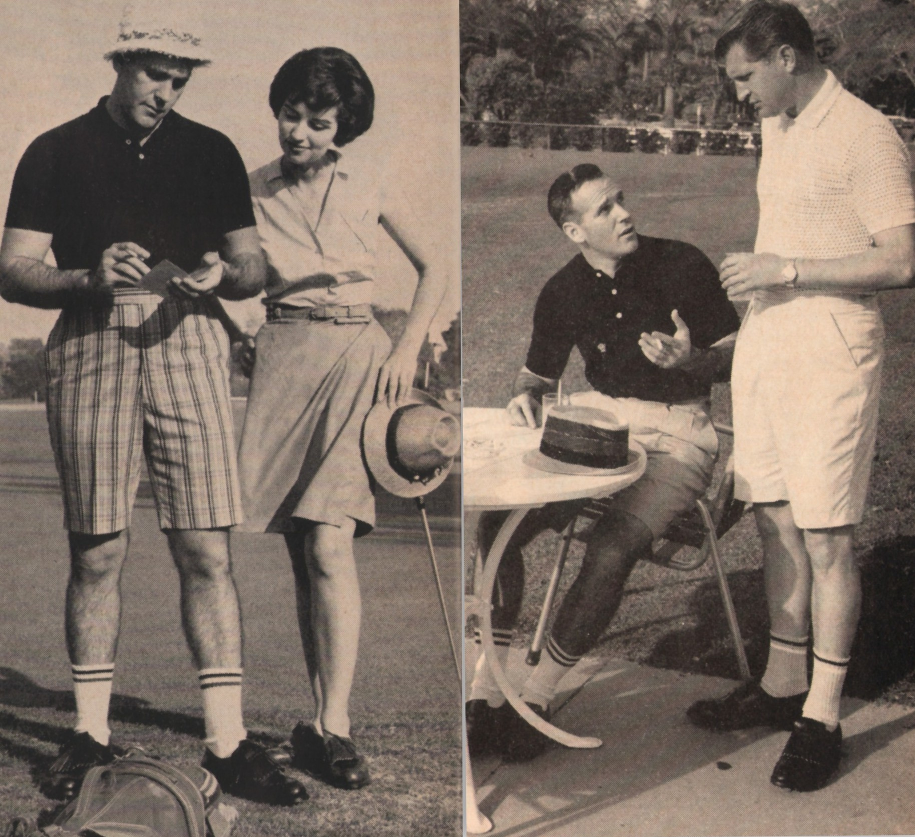 Fifty years ago, my father, and just about everyone else, played golf in Izod socks like these.