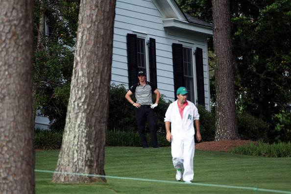 Rory McIlroy during the final round of the 2011 Masters, on a day when he spent plenty of time at the driving range before teeing off.