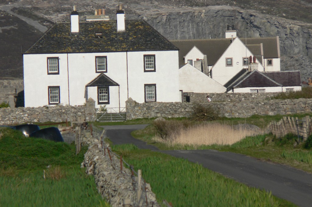 "The house of Lady Cathcart's estate agent, mention by Frederick Rea in ""A School in South Uist."" Old tom Morris's golf course began not far from its door."