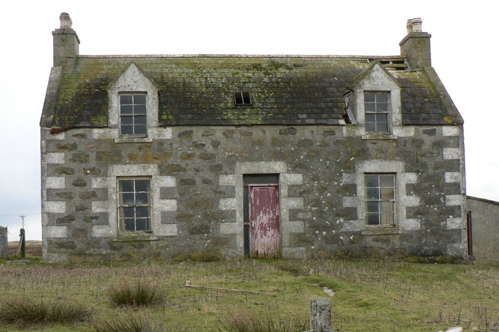 Rea's schoolhouse stood near this old house, South Uist, Scotland, December, 2008.