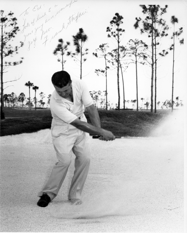 Michael Strafaci, possibly at Doral, where he became the director of golf in 1960.