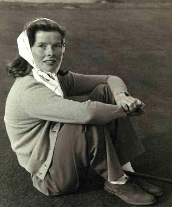 Katharine Hepburn, golfer.