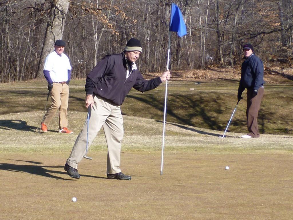 Doug, Gary, Mike A., Goodwin Park Golf Course, Hartford, Connecticut, Super Sunday, February 5, 2012.
