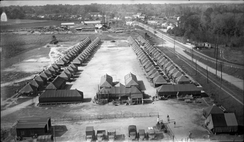 This POW camp was in Williamston, North Carolina, not Augusta, Georgia, but it was similar to the one at Camp Gordon.